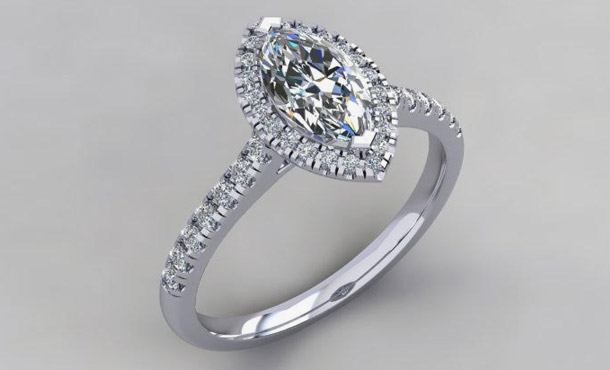 DIAMOND SHAPES THAT AMAZE: CUSTOM ENGAGEMENT RING IN FALLS CHURCH, VA