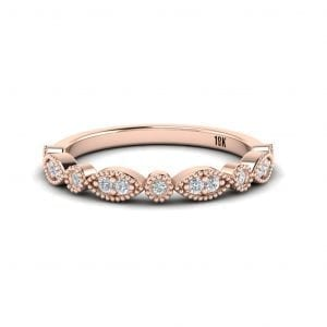 18kt Rose Gold Diamond Band