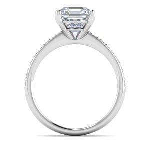 Platinum Pave Diamond Setting